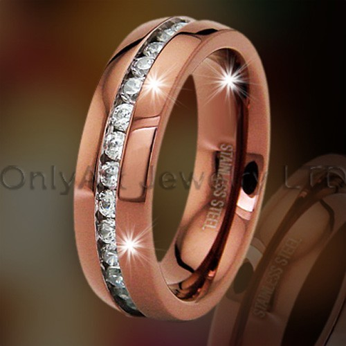 Rosy Titanium Jewelry Ring OATR0259