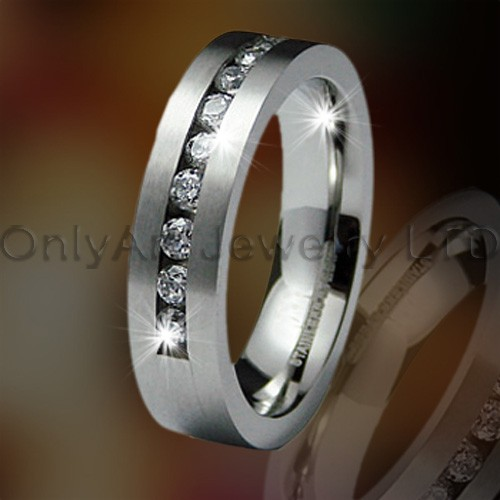 Grey Titanium Ring Jewelry OATR0261