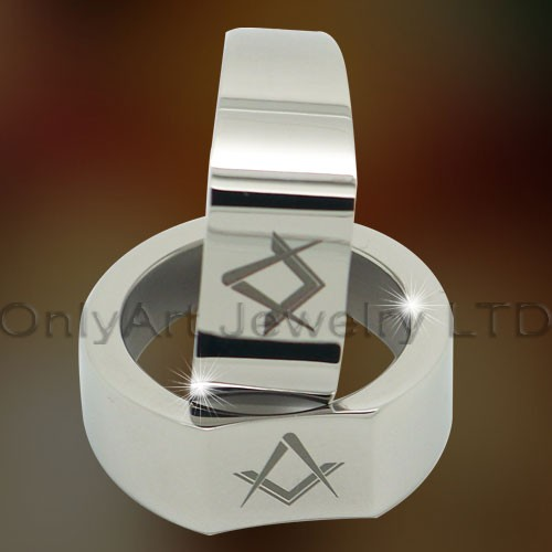 Masonic Titanium Ring OATR0266
