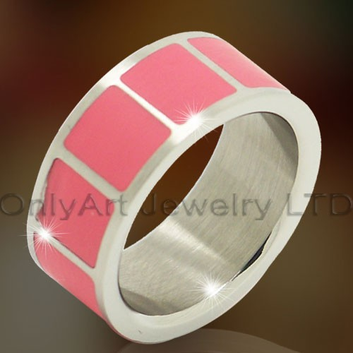 Big Pink Titanium Ring OATR0289