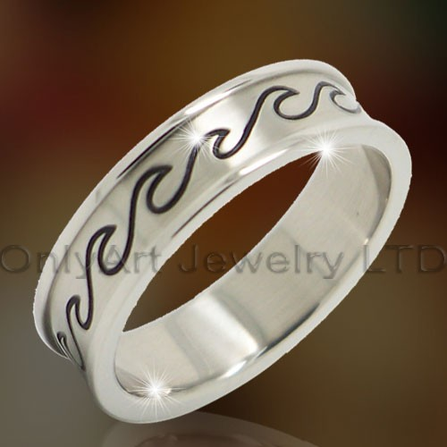 Etched Titanium Ring OATR0292