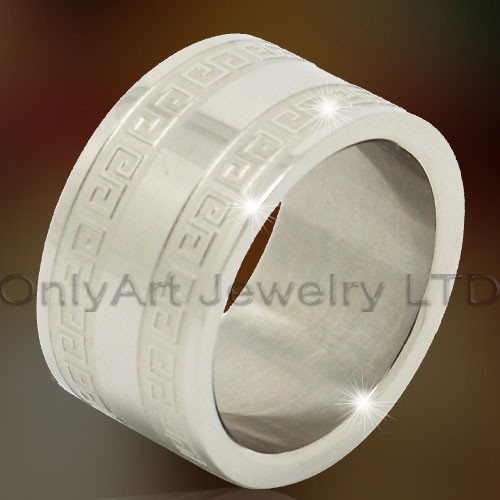 Titanium & Stainless Steel Big Rings OATR0305