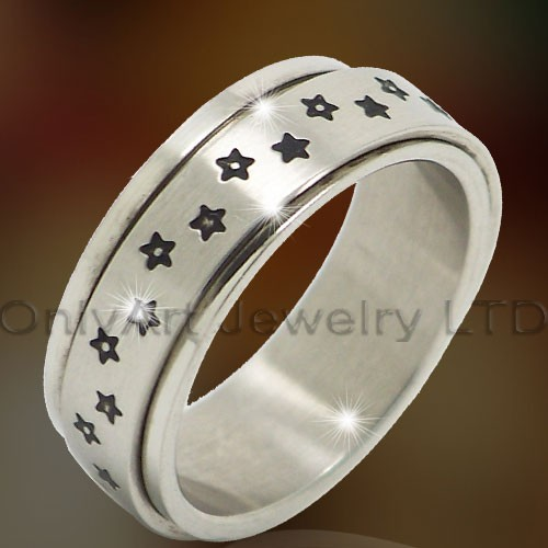 316l Steel Spining Rings Jewelry OATR0320