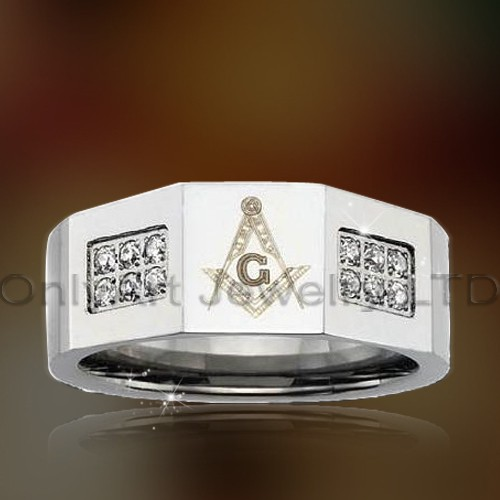 New Design Masonic Steel Rings OATR0323