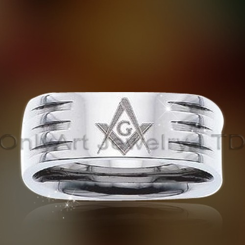 Popular Gift For Men Masonic Titanium Rings OATR0326