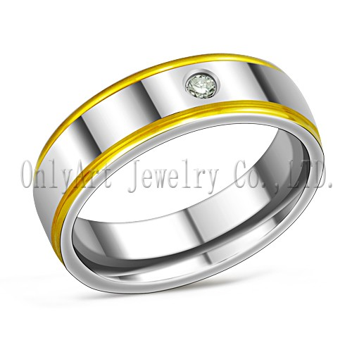 titanium jewelry supplier ring for men with stone