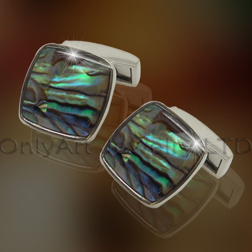 Shirt Metal Gemstone Cuff Link OACL0083