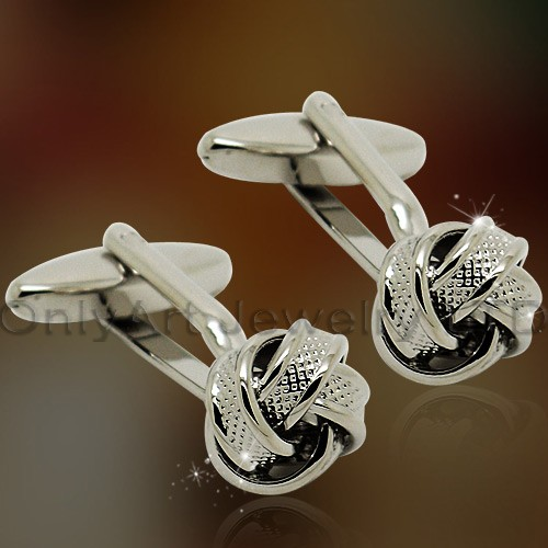 high quality classic style knot cufflinks