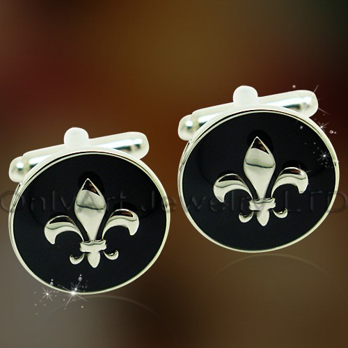custom enamel cufflinks with engraving