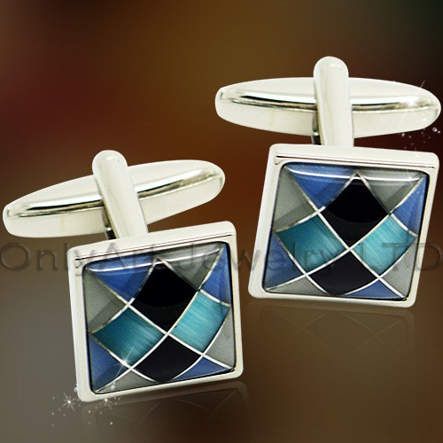 fashional color stone brass cufflinks wholesale