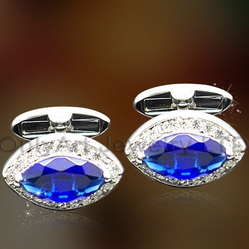 luxury shiny cz brass cufflinks for dress shirt