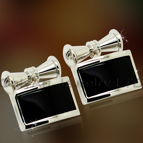 new cheap black enamel cufflinks jewelry