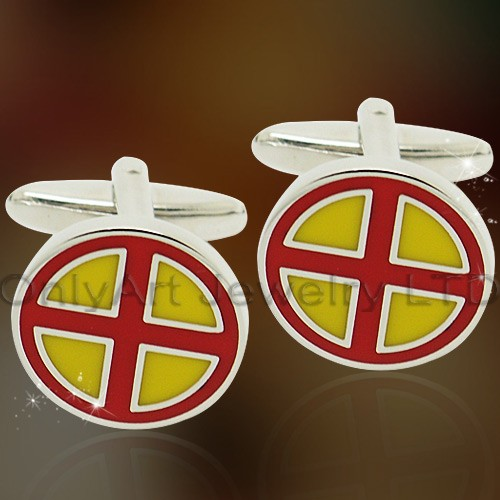 NEW fashion shirt metal enamel cufflink