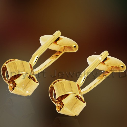 NEW high quality fashion shirt brass golden cufflink