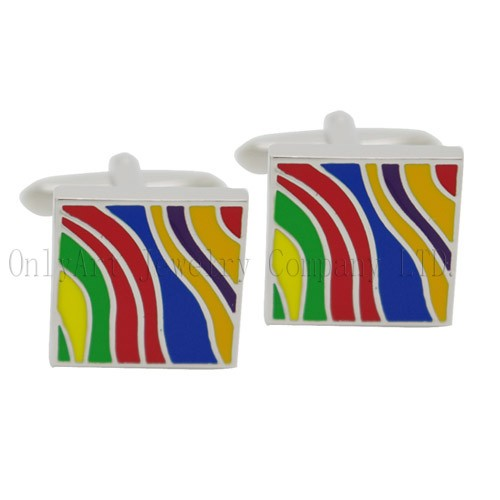 new design color enamel cufflinks