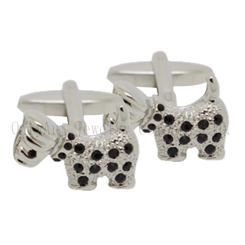 new design small order cute dog cufflink