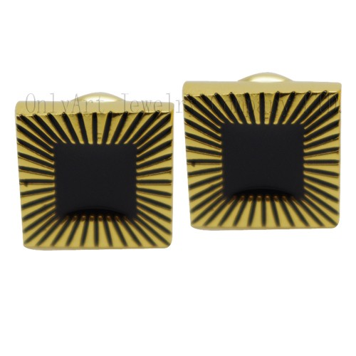 gold platd enamel silver or brass cufflinks