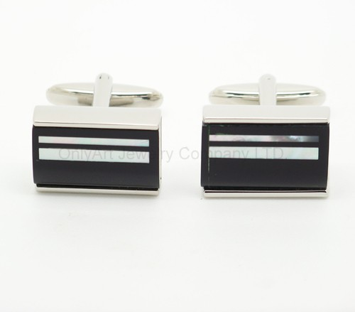 hot sell unique design enamel cufflinks with paypal acceptable