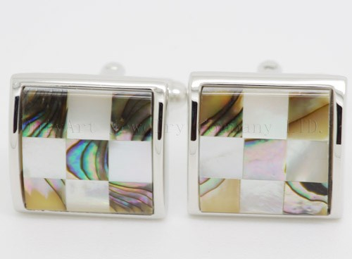 high quality shell cufflinks with plating paypal acceptable
