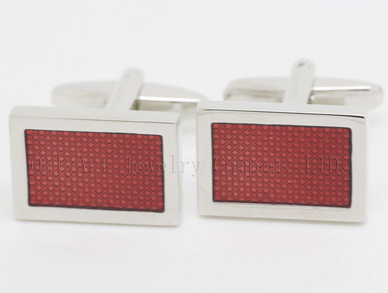 hot selling red enamel cufflinks