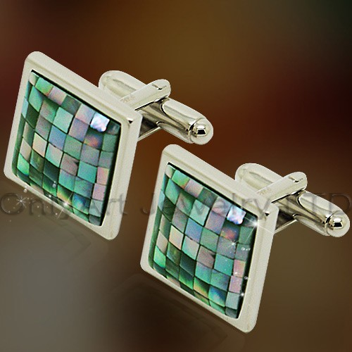 wholesale high quality blue stone cufflink with PNP plating