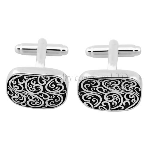 new design wholesale Chinese traditional enamel pattern cufflinks
