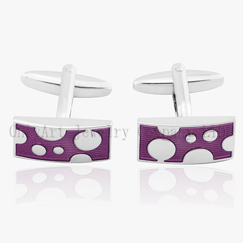 Delicate Stainless Steel Or Brass Cufflinks With Enamel