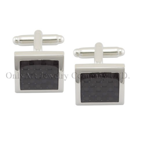 NEW wholesale men accessory carbon fiber cuff links & tie clip