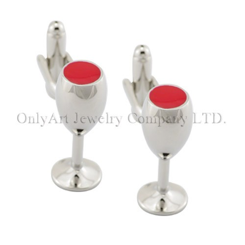 NEW wholesale accessory enemal novelty cup cufflink