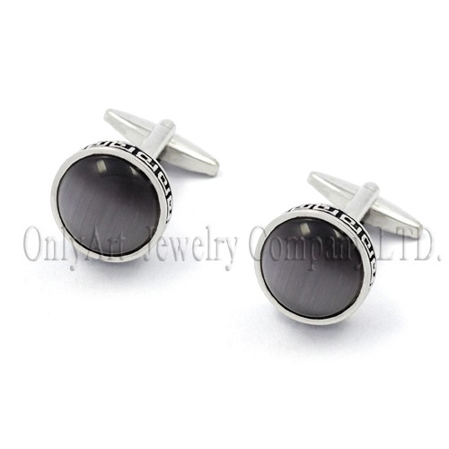 black onyx with unique edge brass or silver 925 cuff links