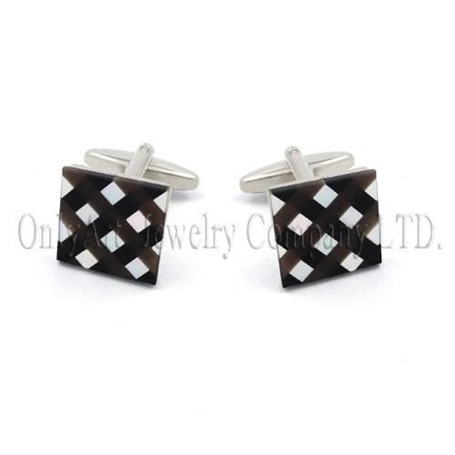 nice mosaic stone inlaying silver 925 or brass cuff links