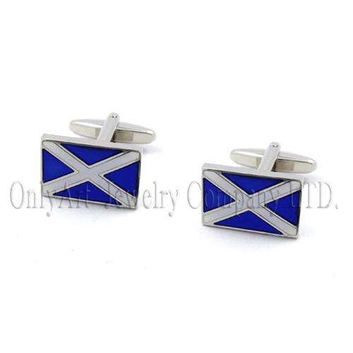 2014 new design top quality flag shape cufflinks wholesale
