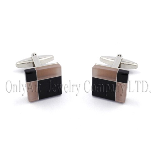 popular new wholesales brass or silver 925 stone cuff links