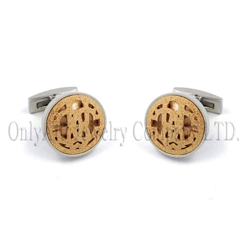 custome logo on with mechanical backing silver 925 or brass cuff links