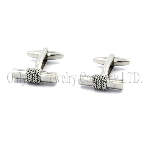 straight bar simple brass or silver 9.25 cuff links