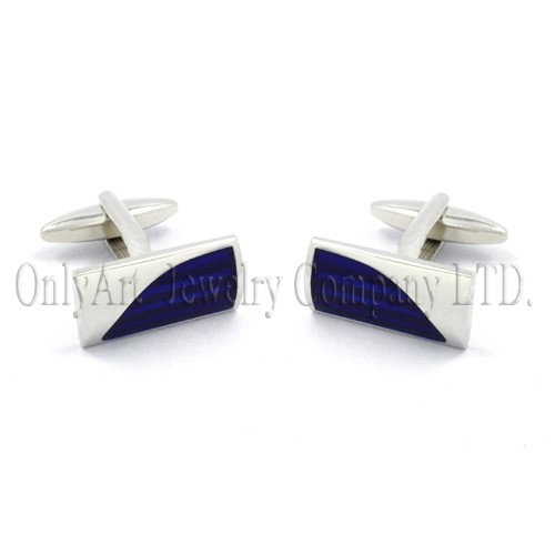 manufacturer price with blue enamel brass or silver cuff links