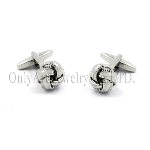 special edge knot brass or silver 9.25 cuff links