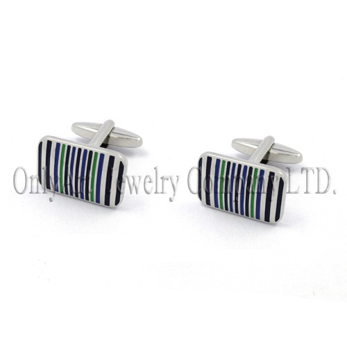 lines color enamel silver 925 or brass cufflinks