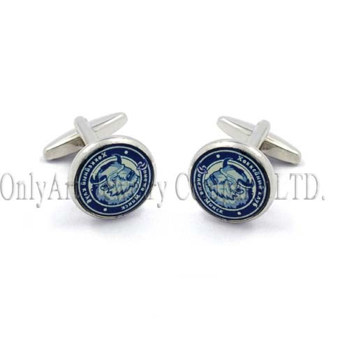 different crafts with animal and logo classy cufflink
