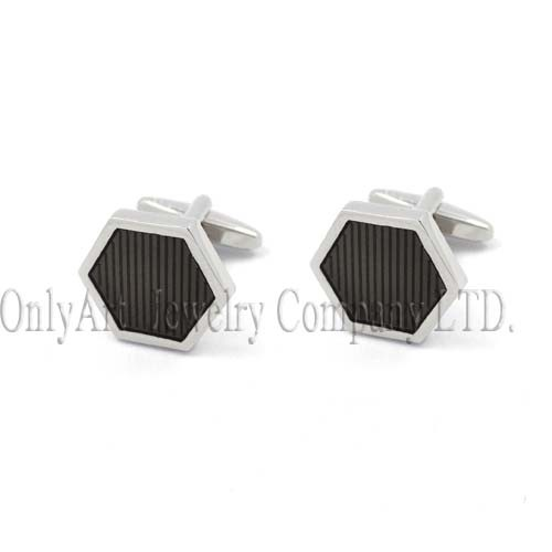 black enamel rhombic shiny polish and eco-friendly admirable cufflin