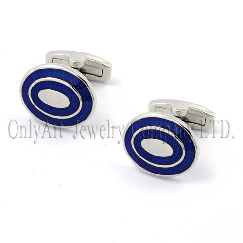 blue flat polished enamel and other color available stunning cufflink