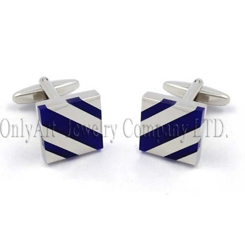 ablaze stone inlaid and shiny polish low-cost cufflink