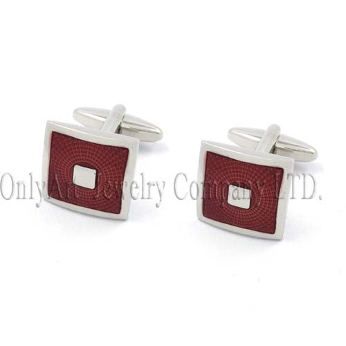 sunshine idea red enamel inexpensive cufflink