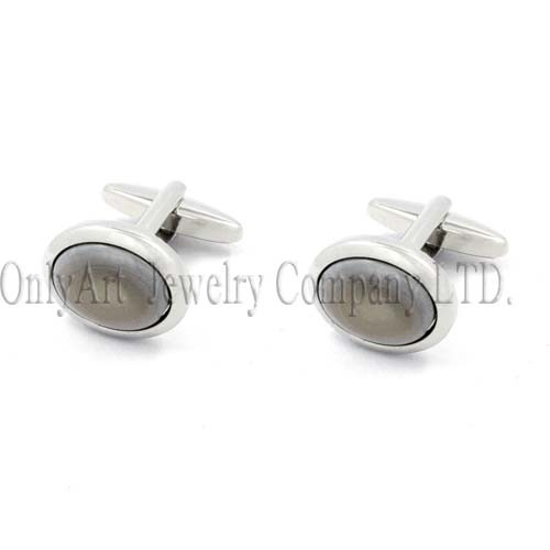 cold style stone inlaid express modest luxury cufflink