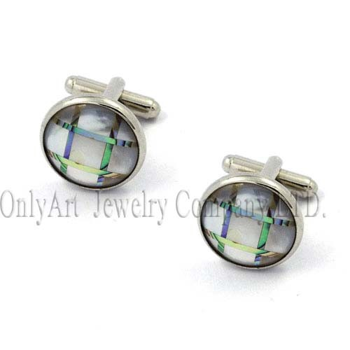 high class mother of pearl good looking cufflink