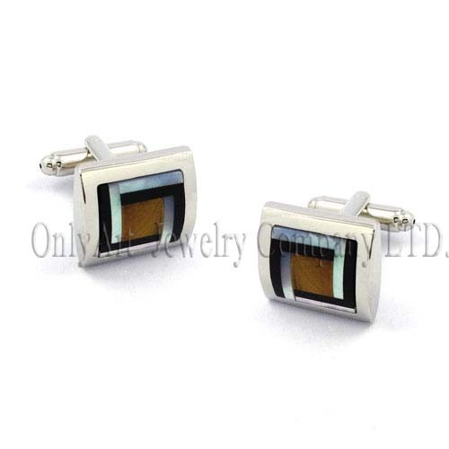 semi-precious stones inlaid exquisite crafts cufflink for men