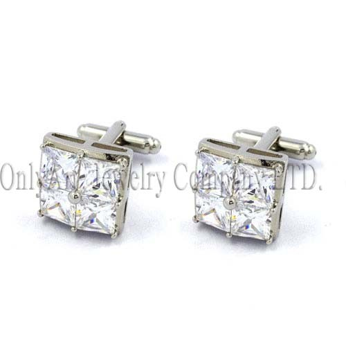 crystal stone metal cufflink jewelry supply