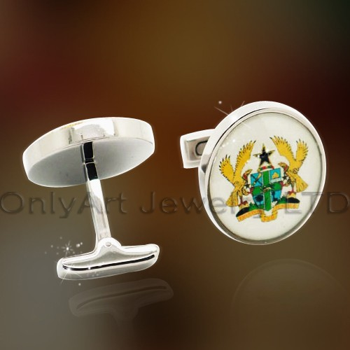 Stainless Steel Custom Logo Cuff Link OASCL0037