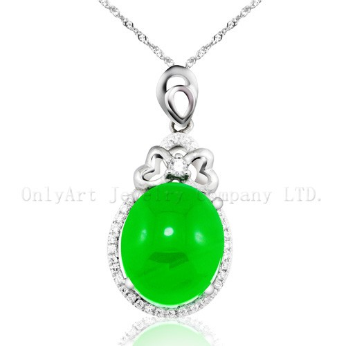 Latest design antique jade jewelry 925 sterling pendant for wedding gift