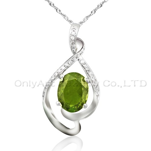 Latest design antique 925 sterling silver pendant CZ jewelry